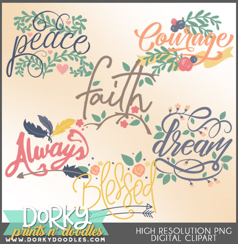 Positive Words Clipart