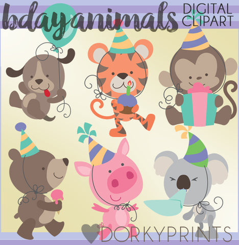 Animals Birthday Clipart