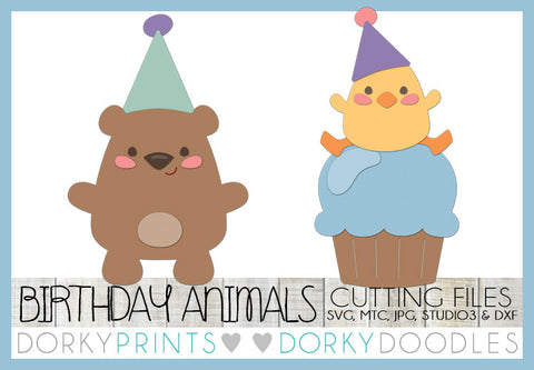 Birthday Bear and Chick Cuttable Files