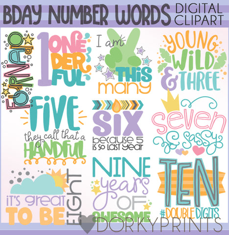 Numbers Birthday Clipart