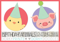 Birthday Pig and Chick Cuttable Files