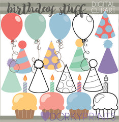 Bundle of Birthday Clipart