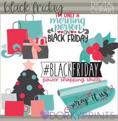 Black Friday Christmas Clipart