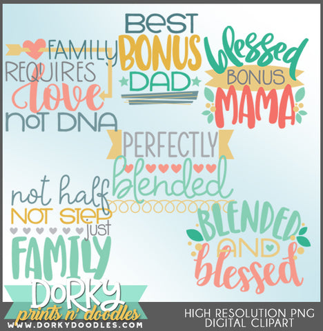 Blended Family Titles Clipart