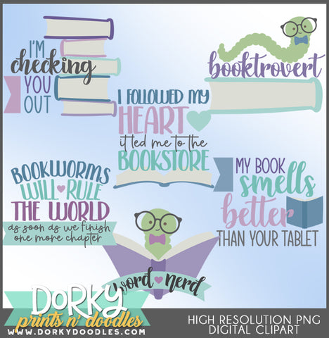 Book Lover Clipart