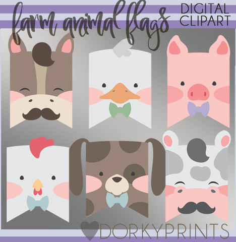 Boy Farm Animals Clipart