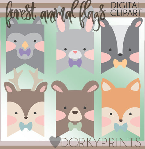Boy Forest Animals Clipart