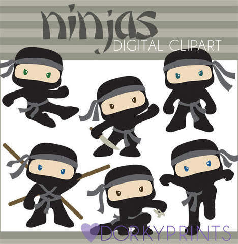 Ninja Digital Clip Art