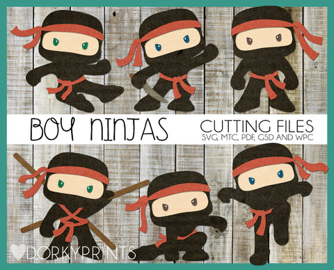Ninja Boys Cuttable Files