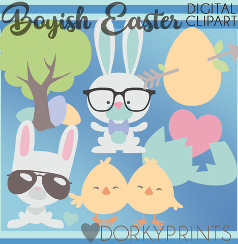 Easter Boy Spring Clipart