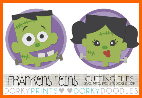 Frankenstein Halloween SVG Cuttable Files