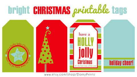 Holly Jolly Christmas Tags Holiday Printables