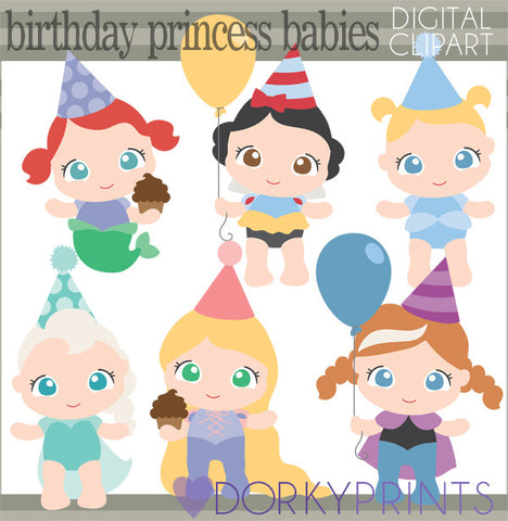 Baby Princess Birthday Clipart