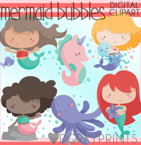 Mermaids of Summer Clipart
