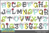 Cute Bugs Font and Symbols Clipart