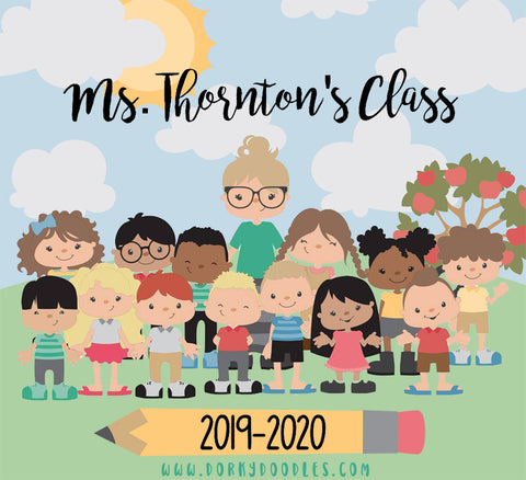 """Build a Class"" - 575 Pieces to Build Virtual Teachers and Students - School Clipart"