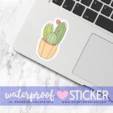 Succulents Large Waterproof Sticker