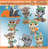 Camping Animals Clipart