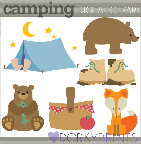 Bears and Camping Summer Clipart