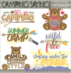 Camping Quotes Summer Clipart