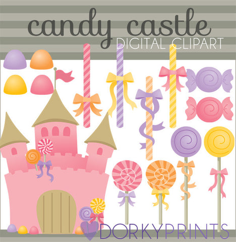 Candy Castle Food Clipart