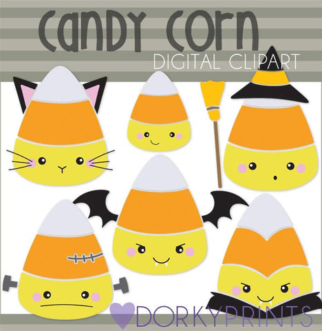 Candy Corn Digital Clip Art