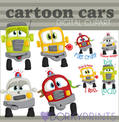 Cartoon Cars Clip Art
