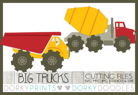 Dumptruck and Cement Mixer Cuttable Files