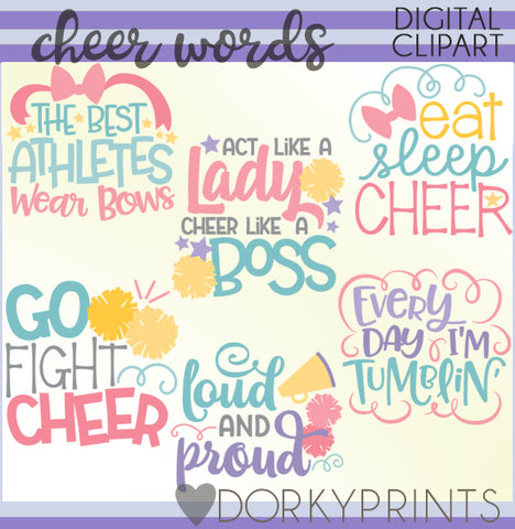 Cheer Words Clipart