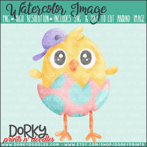 Hatching Chick Watercolor PNG