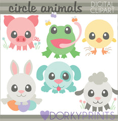 Circle Animals Spring Clipart