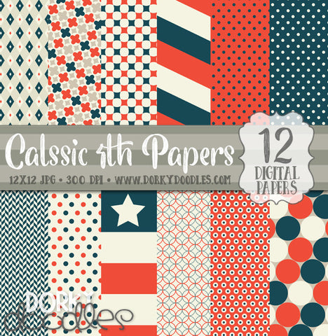 4th of July Digital Paper Pack