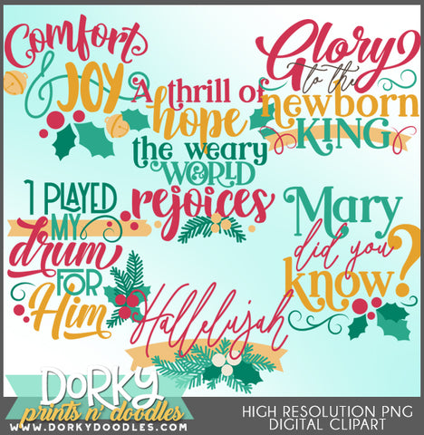 Religious Words and Titles Christmas Clipart