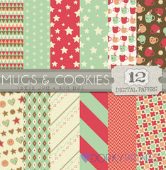 Mugs and Cookies Digital Paper Pack
