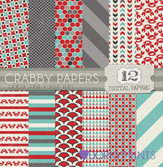 Crab Digital Paper Pack