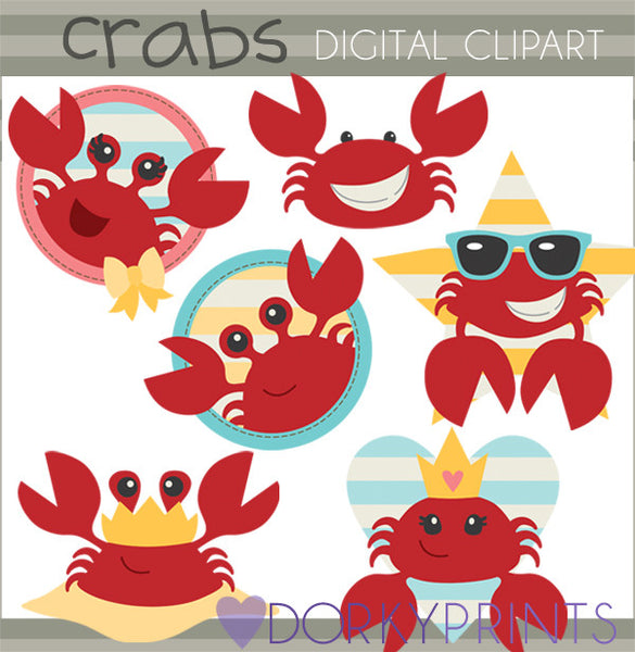 Crab Summer Clipart