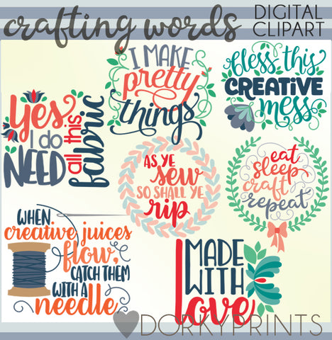 Crafting Words Clipart