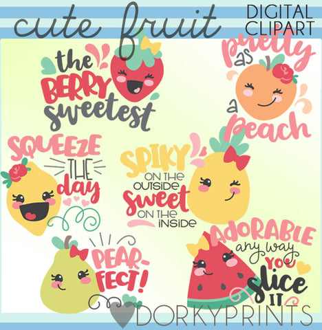 Cute Fruit Food Clipart