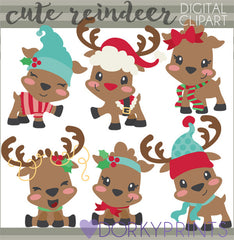 Cute Reindeer Christmas Clipart