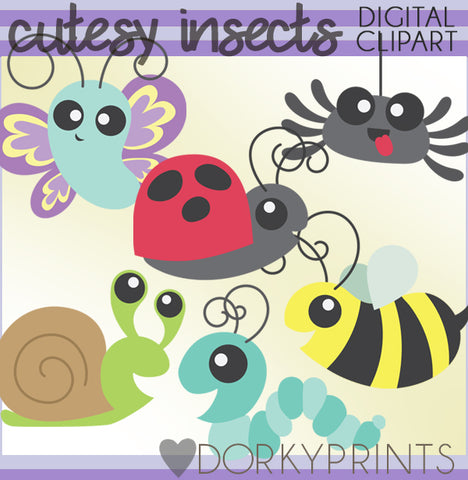 Cutesy Insect Summer Clipart