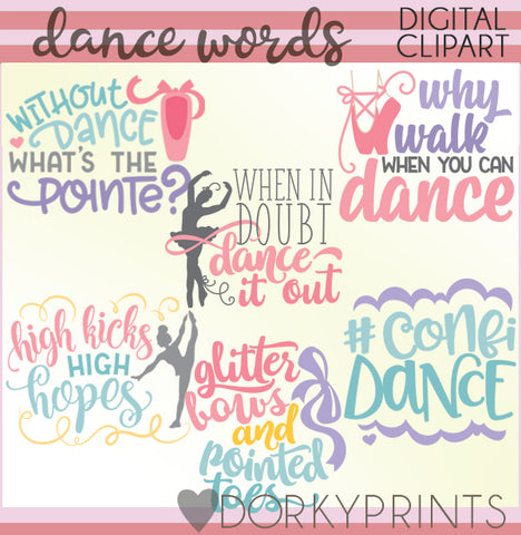 Dance Words Clipart
