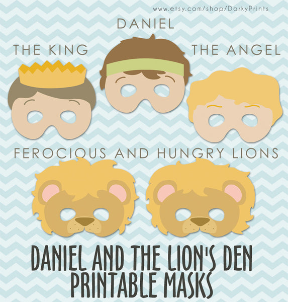 Daniel and the Lions Den Bible Printables