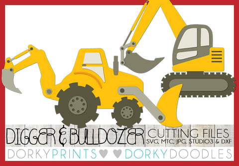 Digger and Bulldozer Cuttable Files