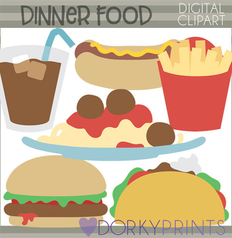 Cute Dinner Food Clipart
