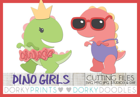Dinosaur Girls Cuttable Files