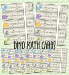 Math Addition Cards Learning Printables
