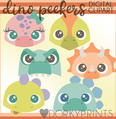 Dinosaur Peekers Animals Clipart