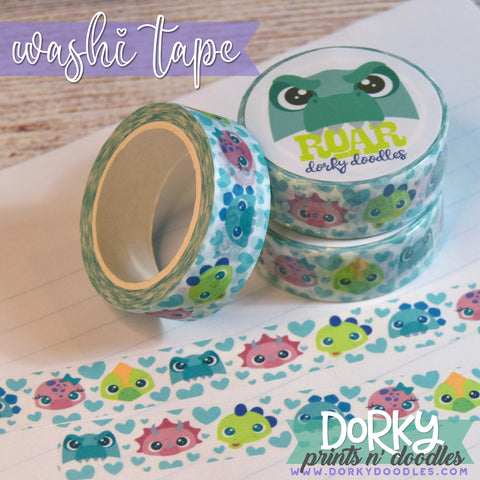 Cute Dino Washi Tape