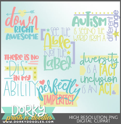 Differently Abled Titles Clipart