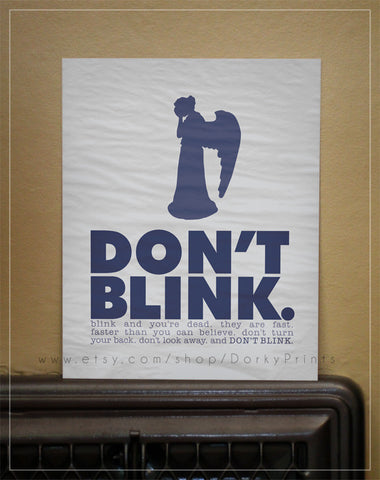 "Don't Blink Weeping Angel 8x10"" Printable"